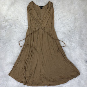 BCBGMAXAZRIA Women's Viscose Wrap Dress Brown Sz M